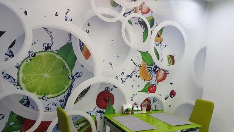 3D обои для стен на кухню