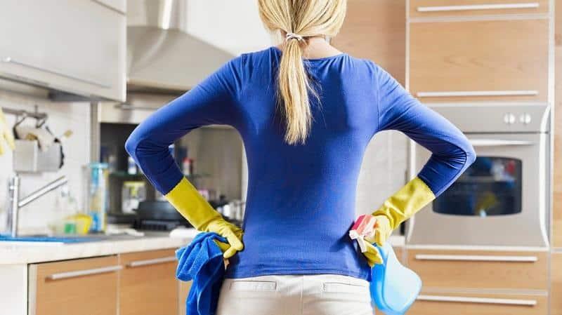 Как и чем можно отмыть плитку от жира на кухне