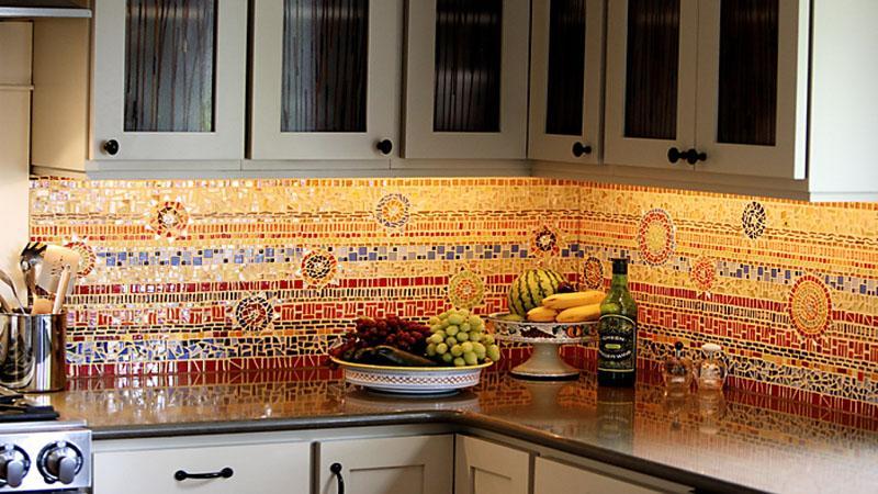 Все о плитке пэчворк на фартук для кухни