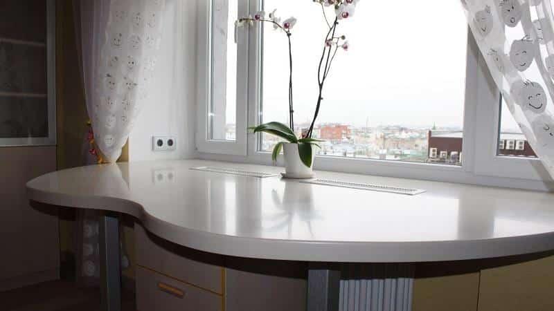 Как сделать стол подоконник на кухне