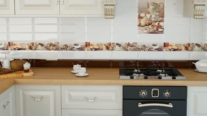 Какой выбрать фартук для белой кухни