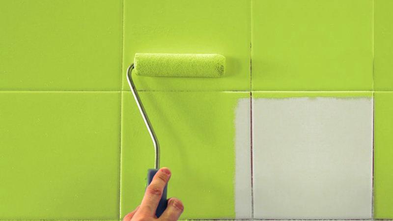 Можно ли покрасить керамическую плитку на кухне
