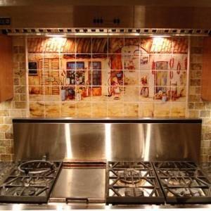Все о панно из плитки на кухню