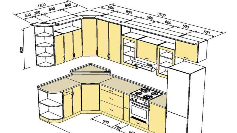 Всё о ремонте кухни 9 кв.м.