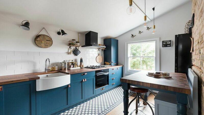 Дизайн и сочетание цветов бирюзовой кухни в интерьере