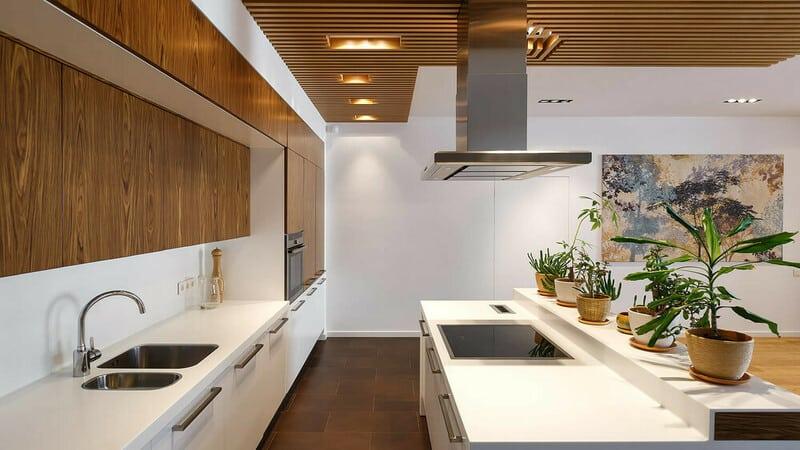 Оформление кухни в экостиле
