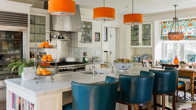 Дизайн кухни в морском стиле