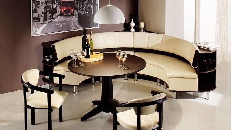 Кожаные диваны со спальным местом на кухню