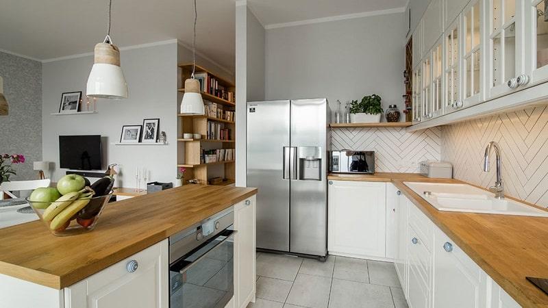 О кухнях в скандинавском стиле с деревянной столешницей