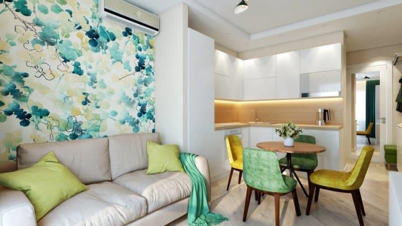Об интерьере кухни в однокомнатной квартире
