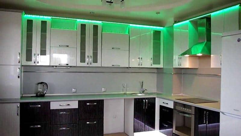 Все о светодиодной подсветке рабочей зоны на кухни