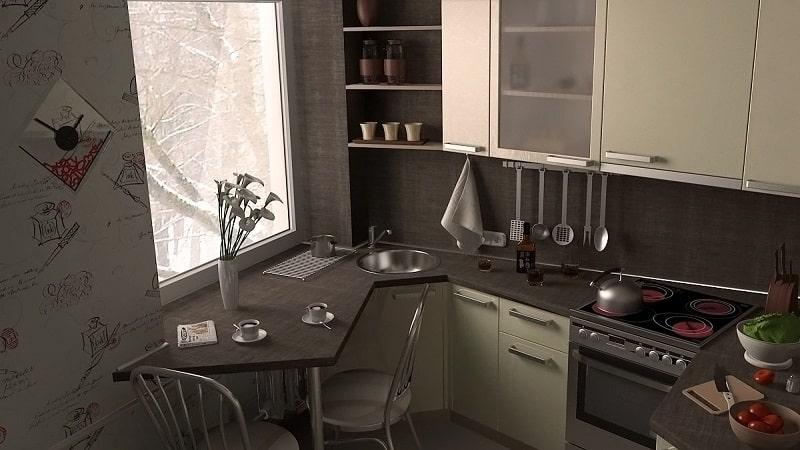 О малогабаритных кухнях