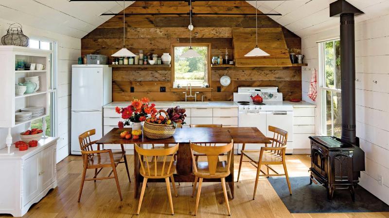 Дизайн кухни в русском стиле