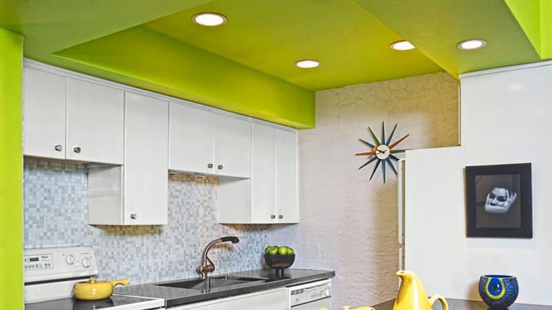 Все о потолке из гипсокартона для кухни