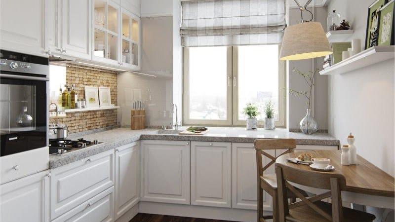 Кухня с мойкой у окна - преимущества и недостатки
