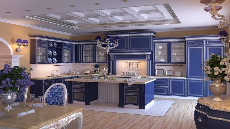 Кухни в стиле неоклассика