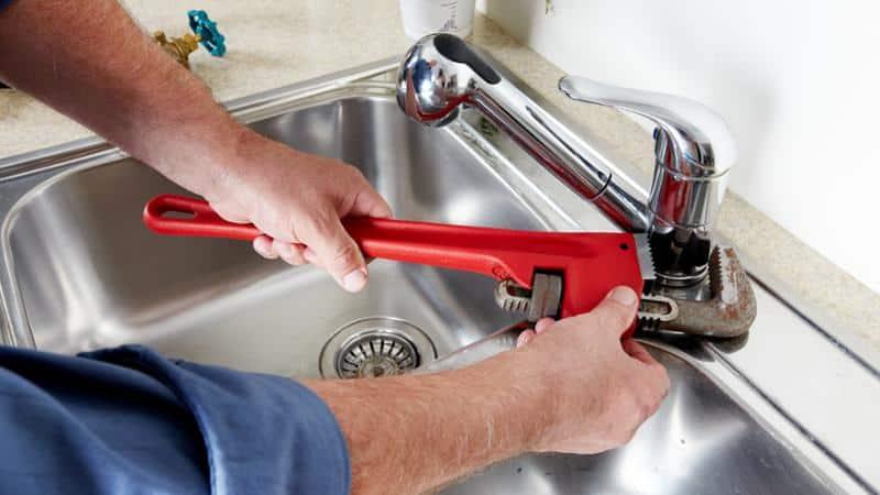 Разборка однорычажного смесителя для кухни  Фото и Видео