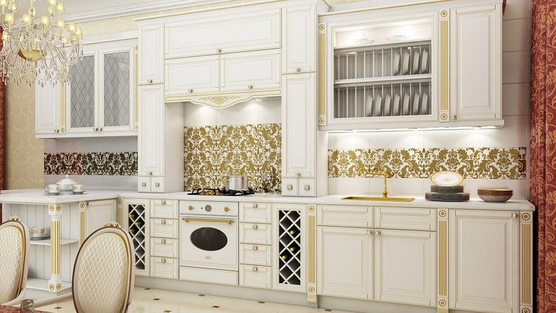 Дизайн кухни белая классика - интерьер в светлых тонах