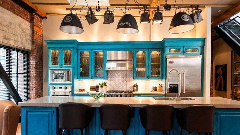 Дизайн кухни в стиле кафе или бара