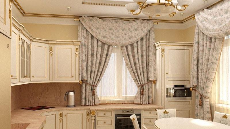 Как выбрать длинные или короткие шторы на кухню