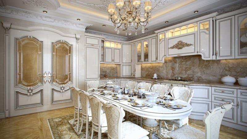 Классические элитные кухни класса «люкс»