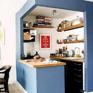 Компактные мини-кухни для студии