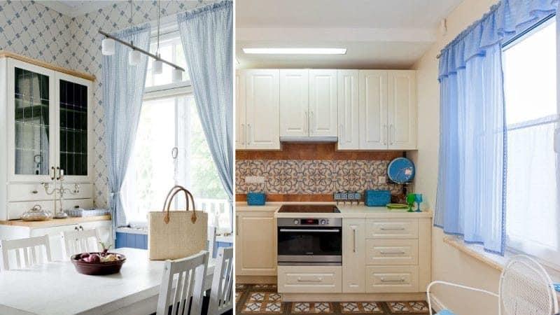 Выбираем короткие шторы до подоконника на кухню