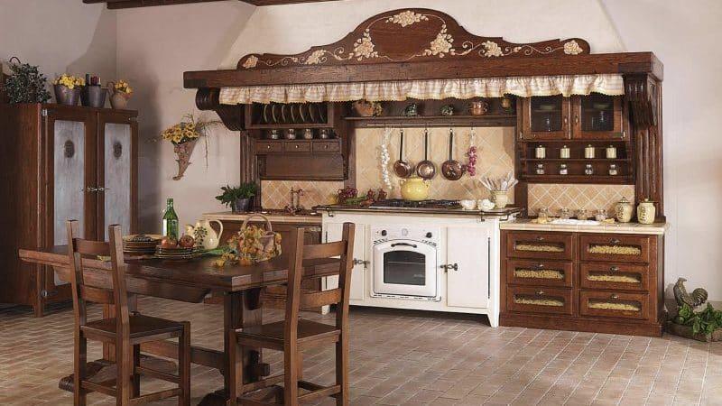 О кухне под старину: состаренный дизайн