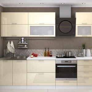 О кухнях ванильного цвета