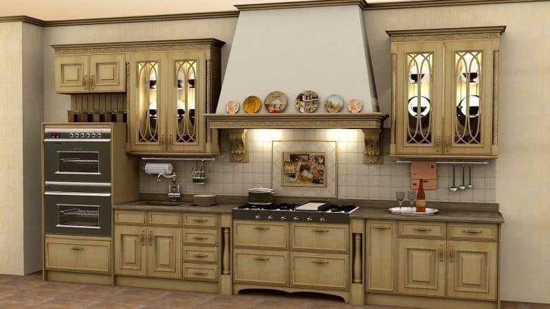 Прямые кухни в современном интерьере