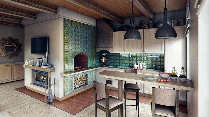 Все о ремонте кухни в частном доме