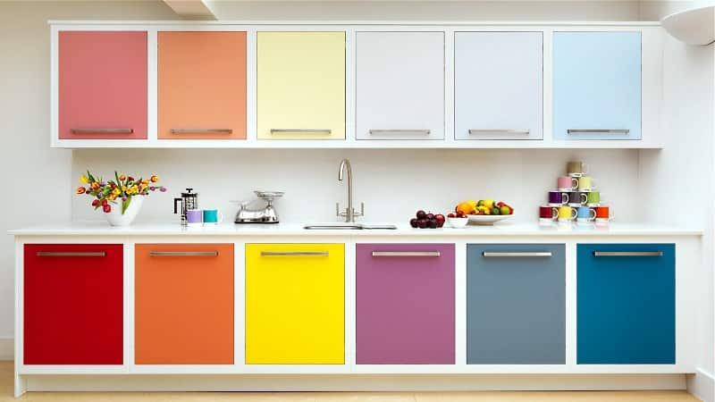 Выбор цвета для кухонного гарнитура: вариации цветовых решений