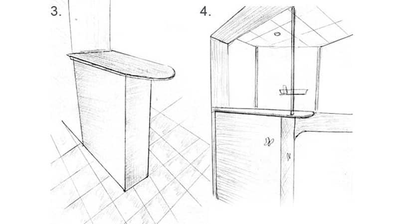 Барная стойка в студии: креативный дизайн для кухни