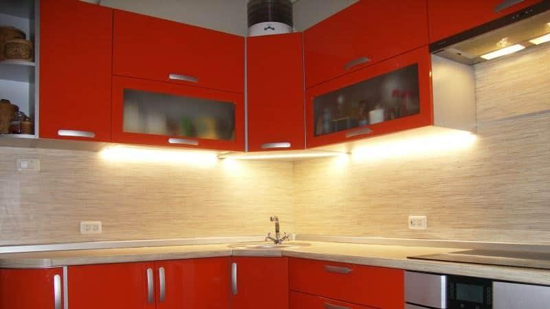 Все о подсветке кухни светодиодной лентой