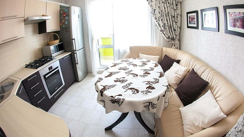 Выбираем диван или софу разных размеров для кухни