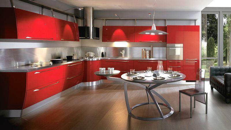 Как подобрать цвета под красную кухню