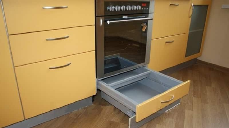 Назначение нижнего ящика газовой плиты