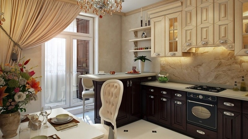 Дизайн кухни 9 кв м: планировка и расстановка мебели