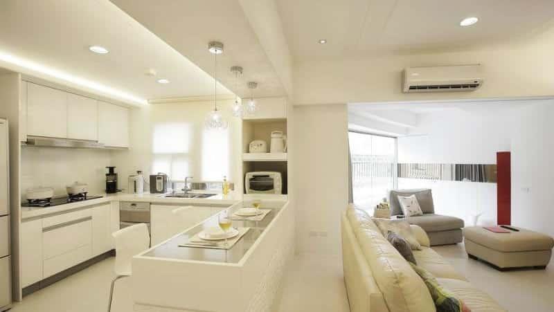 О дизайне кухни-гостиной 30 кв м: планировка совмещенных кухонь