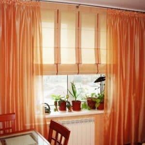 Подбираем римские шторы на кухню