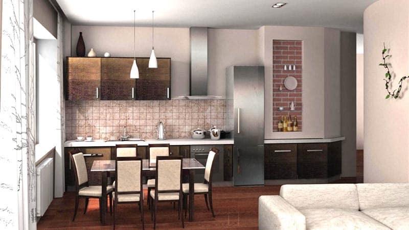 Планировка кухни-столовой для небольшой квартиры