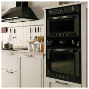 Планировка небольшой кухни со встроенной техникой