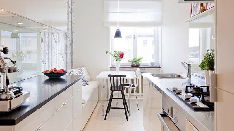 Правила расстановки мебели на кухне