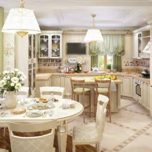Совмещенный дизайн кухни-гостиной
