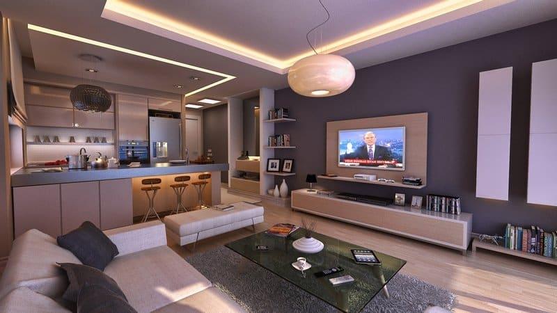 Дизайн интерьера проходной кухни в квартире и частном доме
