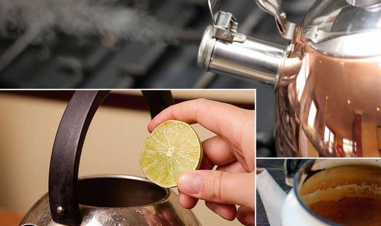 Как очистить чайник от жира