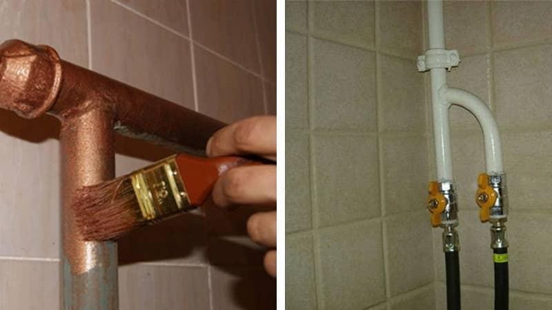 Короб для декорирования газовой трубы на кухне