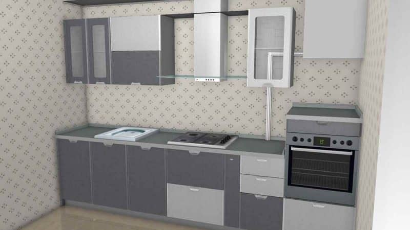 О дизайне маленькой кухни в хрущевке с газовой колонкой