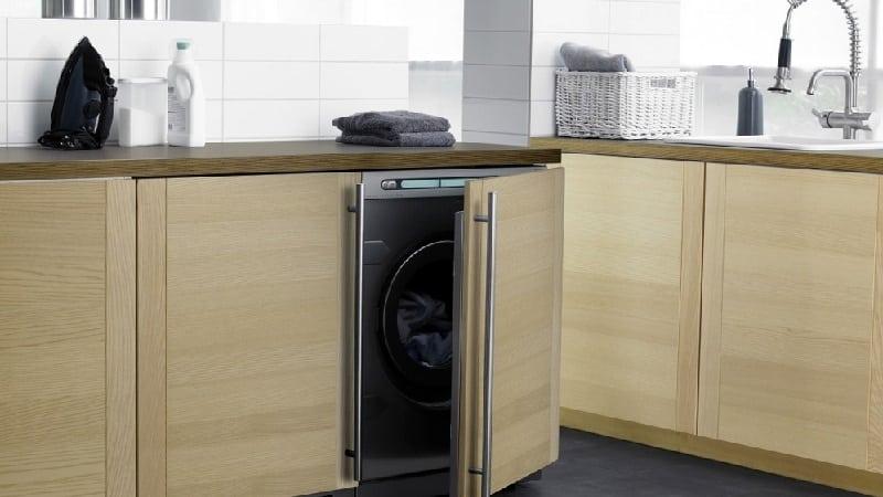 Размеры встраиваемой стиральной машины: ширина, высота, глубина