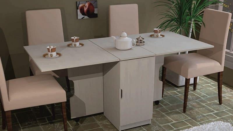Стулья и столы в кухонных гарнитурах